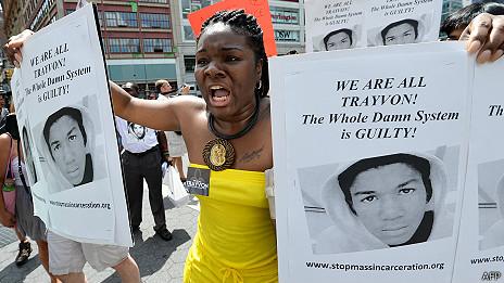 protestas contra Fallo que absolvío a George Zimmerman en Nueva York