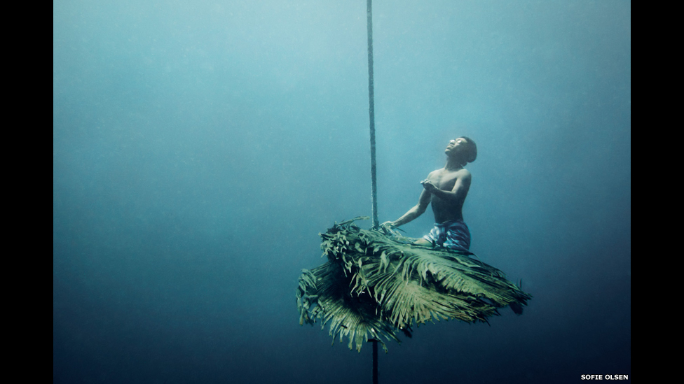 Arrecife artificial creado por los moken