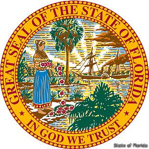 escudo del estado de Florida, EEUU