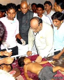 В Индии 22 ребенка отравились насмерть школьным обедом