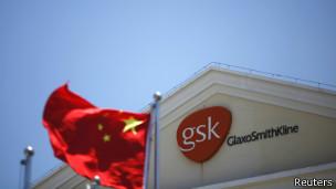 上海葛兰素史克标记和国旗