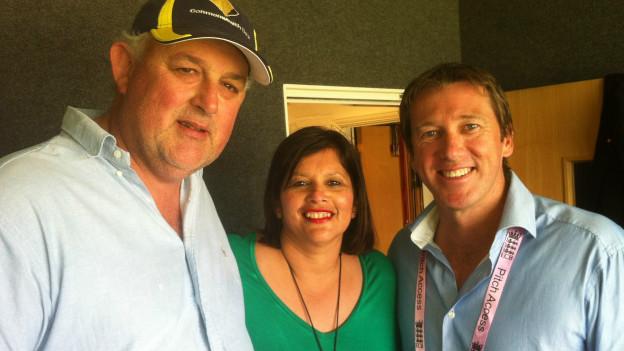John & Sonia Agar with Glen McGrath