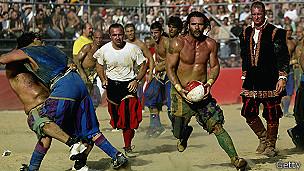 Jugadores de Calcio Storico