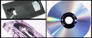 CD/DVD, cassette, video tape
