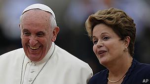 Papa Francisco y Dilma Rousseff