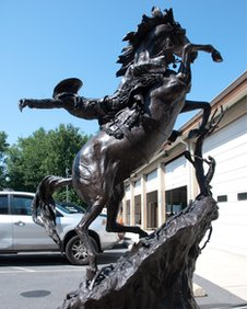 Harrisburg, Pensilvania. Estatua de caballo