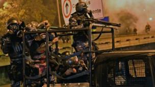 Cảnh sát Brazil trấn áp người biểu tình