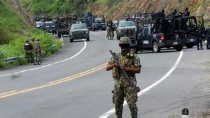 Militares en Michoacán