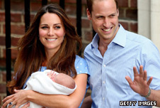 The Duke and Duchess of Cambridge present their son to the world