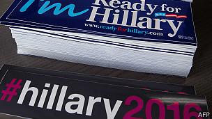 Material de la campaña de Hillary Clinton