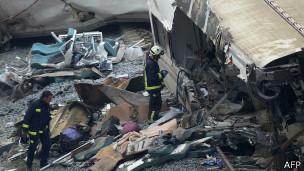 Accidente de tren en España