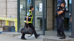 Policía forense en Galicia