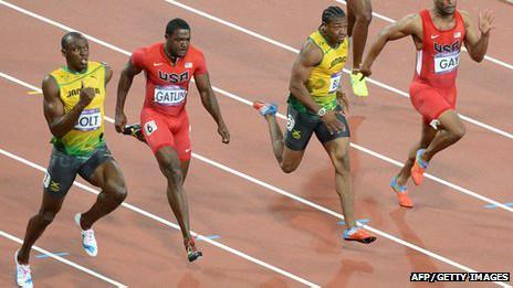 Usain Bolt en carrera