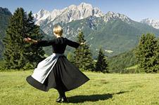 Maria on a hillside