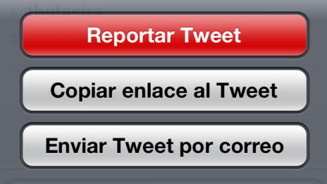 Reportar abuso en Twitter