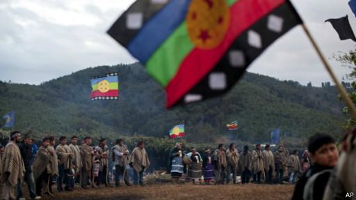 Protesta mapuche, foto de Archivo
