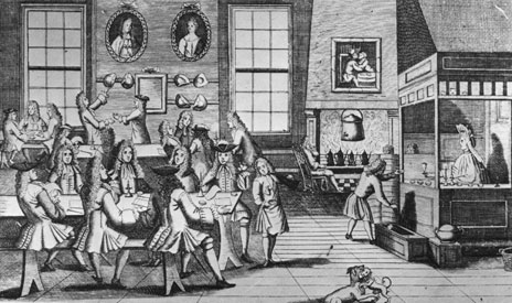 Cafetería en el siglo XVIII
