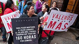 protestas a las afueras de un Wendys de Chicago