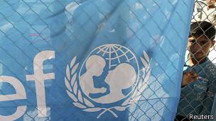 niño tras aviso de Unicef