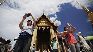 Turistas en Bangkok