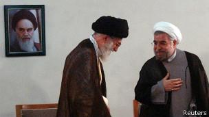 Ayatolá Ali Jamenei reunido con el presidente Hassan Rohani