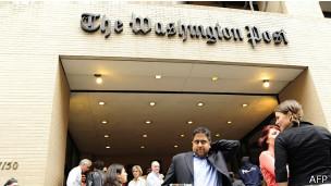 Entrada de las oficinas del Washington Post