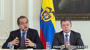 Fernando Carrillo y Juan Manuel Santos