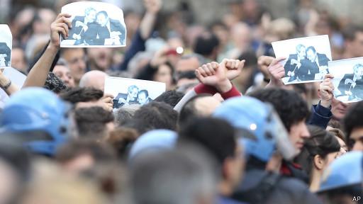 Manifestação antimáfia