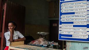 Cafetería en Cuba