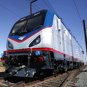 Trem da Siemens usado na Califórnia. Foto: AP