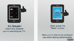 Dos pantallas que muestran cómo funciona la app.