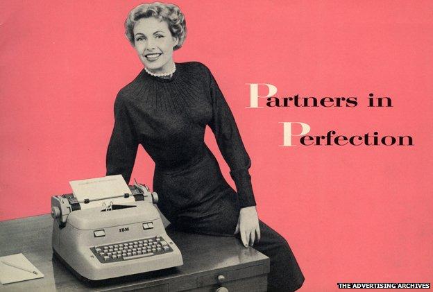 Publicidad, máquina de escribir
