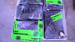 Cocaína incautada por el gobierno de Estados Unidos