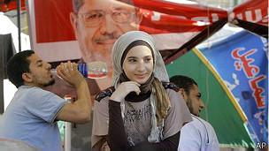 Сторонница бывшего президента Мурси в Египте