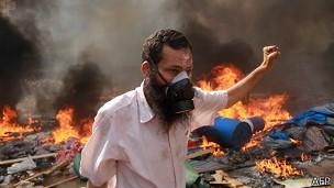 Manifestante egipcio