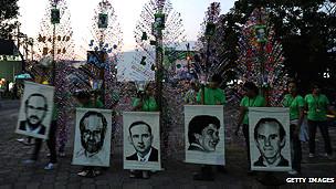 conmemoración de la muerte de jesuitas en El Salvador