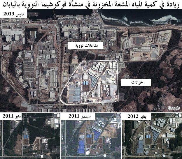 تطور الأحداث في مفاعل فوكوشيما
