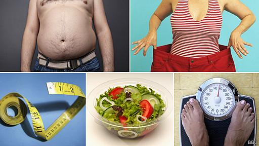 composición de fotos de gente con sobre peso