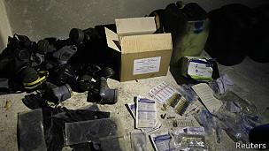 Materiales químicos y máscaras de gas