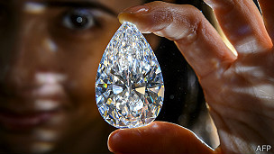 Diamante extraído de una mina en Botsuana