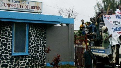 Universidade da Libéria | Foto: AFP