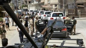 Convoy de la ONU en Damasco
