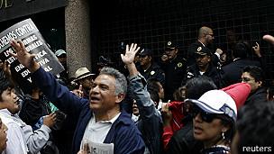 Protestas de maestros en Ciudad de México. Foto de Archivo: AP.