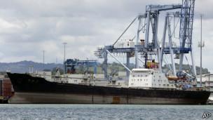 Barco norcoreano en Panamá