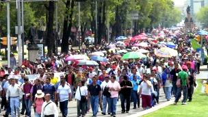Protesta de maestros en México. Cortesía CNTE
