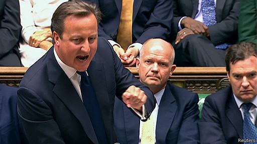 David Cameron en el Parlamento británico.