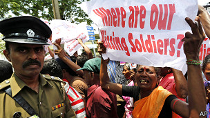 Protest in Colombo against Pillai visit
