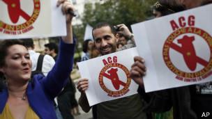 Franceses en contra de una acción militar en Siria
