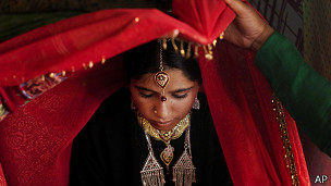 Novia en India