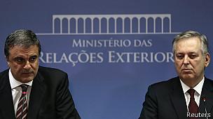 Ministro de justicia, José Cardozo, y canciller de Brasil, Luis Figueiredo